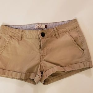 SO womens khaki shorts